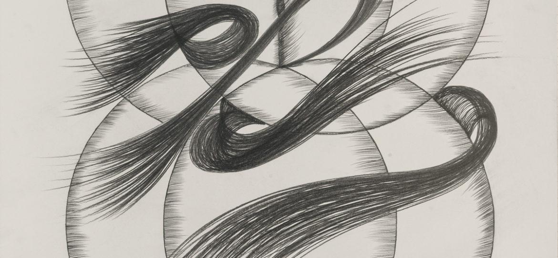 Hommage an Gerlinde Beck 2017 Graphitzeichnung auf Papier 102 x 73 cm ©Rose Stoll Foto ©Guenter Beck Pforzheim